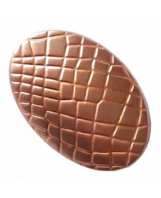 Vollmetallknopf oval mit Reptilienmuster und Öse - Größe: 20mm - Farbe: kupfer - Art.-Nr.: 341383