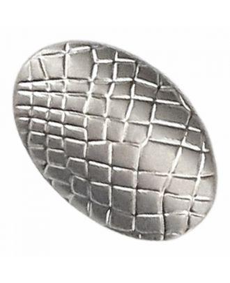 Vollmetallknopf oval mit Reptilienmuster und Öse - Größe: 20mm - Farbe: altsilber - Art.-Nr.: 341384