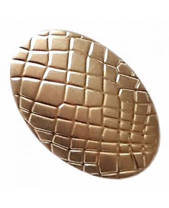Vollmetallknopf oval mit Reptilienmuster und Öse - Größe: 20mm - Farbe: altgold - Art.-Nr.: 370914