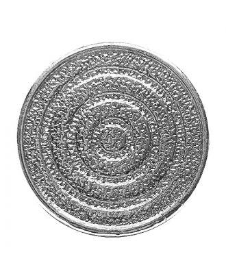 Vollmetallknopf rund mit Öse - Größe:  23mm - Farbe: silber - ArtNr.: 341404
