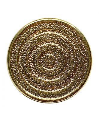 Vollmetallknopf rund mit Öse - Größe:  23mm - Farbe: gold - ArtNr.: 370927