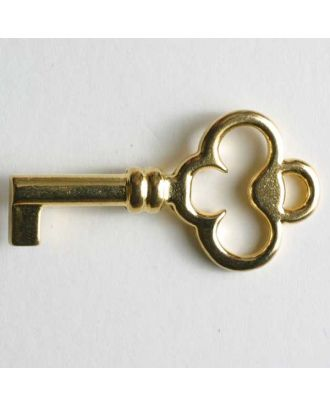 Schlüsselknopf, vollmetall - Größe: 35mm - Farbe: gold - Art.Nr. 370039