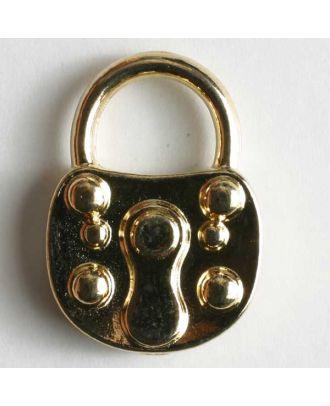 Schlüsselknopf, vollmetall - Größe: 23mm - Farbe: gold - Art.Nr. 370041