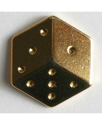 Würfel - Größe: 20mm - Farbe: gold - Art.Nr. 370109