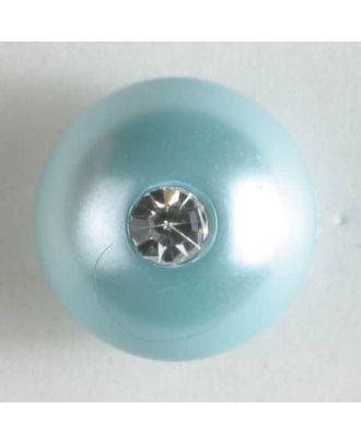 kugelförmiger Knopf mit kleinem Strassstein - Größe: 10mm - Farbe: grün - Art.Nr. 300198
