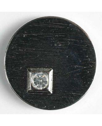 Kunststoffknopf mit Strass - Größe: 23mm - Farbe: silber - Art.-Nr.: 400046