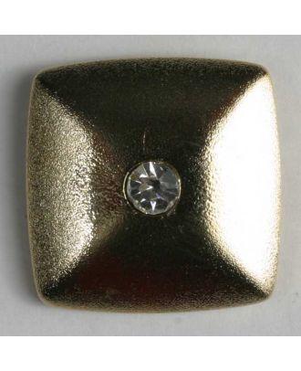 Kunststoffknopf mit Strass - Größe: 23mm - Farbe: echt vergoldet - Art.-Nr.: 420031