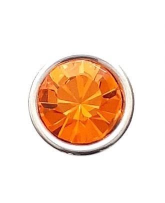Straßknopf mit Öse - Größe: 10mm - Farbe: orange - Art.Nr. 370844
