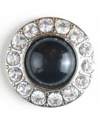 wunderschöner Strassknopf mit großer Perle in der Mitte  - Größe: 25mm - Farbe: silber - Art.Nr. 510018