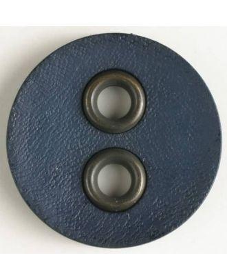 Kunststoffknopf mit Metalllöchern - Größe: 32mm - Farbe: marineblau - Art.Nr. 400081