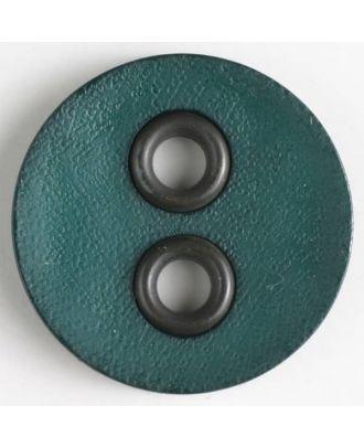 Kunststoffknopf mit Metalllöchern - Größe: 32mm - Farbe: grün - Art.Nr. 400082