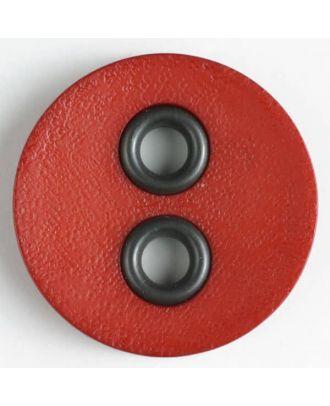 Kunststoffknopf mit Metalllöchern - Größe: 32mm - Farbe: orange - Art.Nr. 400083