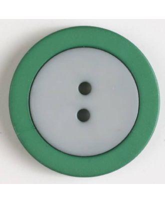 Zweiteiliger Polamidknopf mit Löchern - Größe: 25mm - Farbe: grau - Art.Nr. 330819