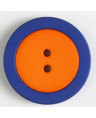Zweiteiliger Polamidknopf mit Löchern - Größe: 25mm - Farbe: orange - Art.Nr. 330822
