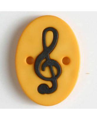 Zweiteiliger Polamidknopf mit Löchern - Größe: 25mm - Farbe: gelb - Art.Nr. 330827