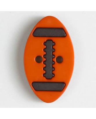 Zweiteiliger Polamidknopf mit Löchern - Größe: 25mm - Farbe: orange - Art.Nr. 330832