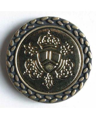 Kunststoffknopf mit silbernen Intarsien - Größe: 25mm - Farbe: altgold - Art.Nr. 340292