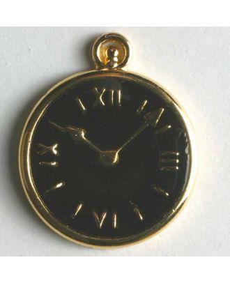 Uhrenknopf, vollmetall - Größe: 20mm - Farbe: schwarz - Art.Nr. 350084