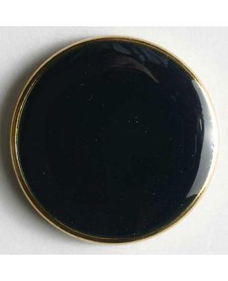 Blazerknopf, vollmetall, mit schmalem, dekorativem Rand und blauer Einlage - Größe: 23mm - Farbe: blau - Art.Nr. 350090