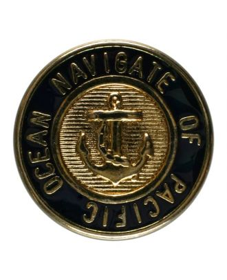 Ankerknopf, vollmetall - Größe: 20mm - Farbe: blau - Art.Nr. 350107