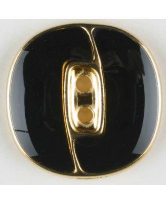 Blazerknopf, vollmetall - Größe: 18mm - Farbe: schwarz/gold - Art.Nr. 330095