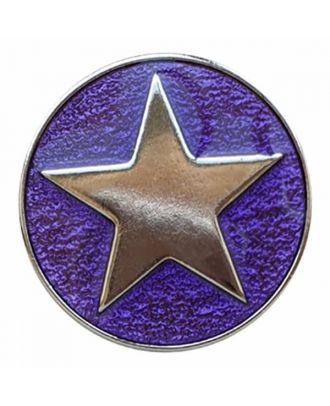 emailierter Sternenknöpf Vollmetall mit Öse - Größe: 20mm - Farbe: lila - Art.Nr. 341356