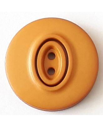 Polyamidknopf, Knopflöcher eingebettet in Oval  mit 2 Löchern - Größe: 20mm - Farbe: beige - Art.Nr. 338737