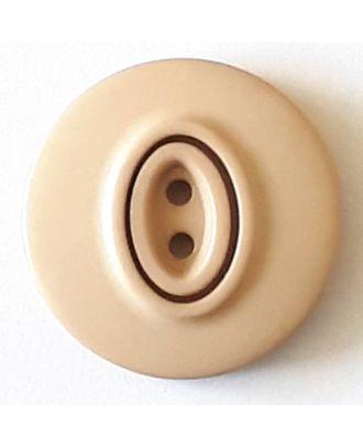 Polyamidknopf, Knopflöcher eingebettet in Oval  mit 2 Löchern - Größe: 20mm - Farbe: beige - Art.Nr. 338738