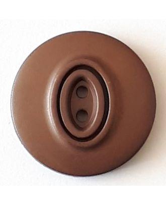 Polyamidknopf, Knopflöcher eingebettet in Oval  mit 2 Löchern - Größe: 30mm - Farbe: braun - Art.Nr. 388740