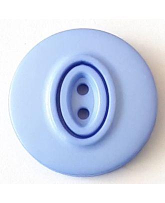 Polyamidknopf, Knopflöcher eingebettet in Oval  mit 2 Löchern - Größe: 30mm - Farbe: blau  - Art.Nr. 388741