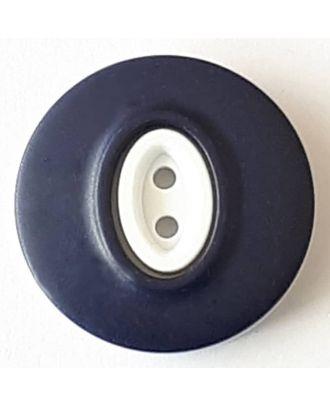 Polyamidknopf, Knopflöcher eingebettet in Oval  mit 2 Löchern - Größe: 30mm - Farbe: marine  - Art.Nr. 388749