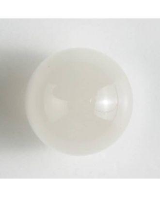 Polyester-Kugelknopf mit Öse - Größe: 14mm - Farbe: weiss - Art.Nr. 221211