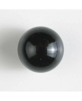 Polyester-Kugelknopf mit Öse - Größe: 14mm - Farbe: schwarz - Art.Nr. 221212