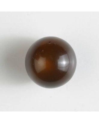 Polyester-Kugelknopf mit Öse - Größe: 14mm - Farbe: braun - Art.Nr. 221825