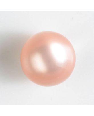 Polyester-Kugelknopf mit Öse - Größe: 10mm - Farbe: pink - Art.Nr. 191076