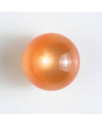 Polyester-Kugelknopf mit Öse - Größe: 10mm - Farbe: orange - Art.Nr. 191080