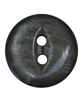 Polyesterknopf rund in glänzender Optik mit 2 Löchern - Größe:  13mm - Farbe: grau - ArtNr.: 247800