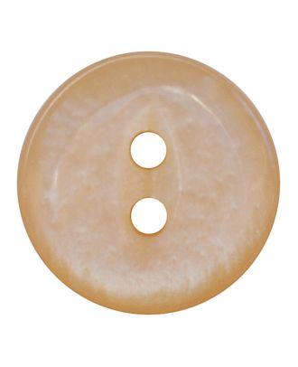 Polyesterknopf rund in glänzender Optik mit 2 Löchern - Größe:  13mm - Farbe: beige - ArtNr.: 247801