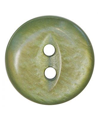 Polyesterknopf rund in glänzender Optik mit 2 Löchern - Größe:  13mm - Farbe: hellgrün - ArtNr.: 247807