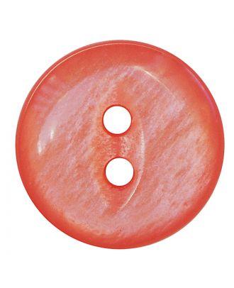 Polyesterknopf rund in glänzender Optik mit 2 Löchern - Größe:  13mm - Farbe: rosa - ArtNr.: 247809