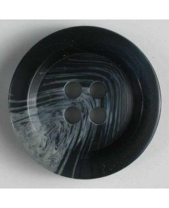 Anzugknopf mit Farbverlauf und vier Löchern - Größe: 20mm - Farbe: blau - Art.Nr. 230138
