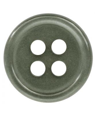 Polyesterknopf rund in glänzender Optik mit 4 Löchern - Größe:  11mm - Farbe: grau - ArtNr.: 217800