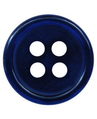 Polyesterknopf rund in glänzender Optik mit 4 Löchern - Größe:  9mm - Farbe: dunkelblau - ArtNr.: 197807