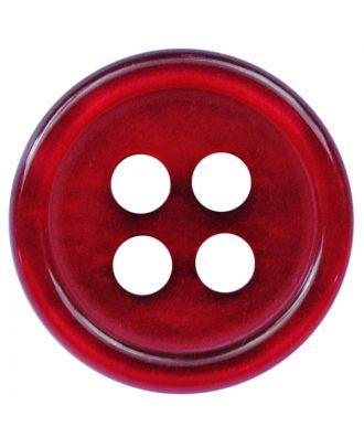 Polyesterknopf rund in glänzender Optik mit 4 Löchern - Größe:  11mm - Farbe: weinrot - ArtNr.: 217812