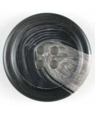 Anzugknopf mit Farbverlauf und vier Löchern - Größe: 9mm - Farbe: schwarz - Art.Nr. 170444