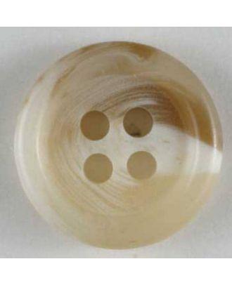 Anzugknopf mit Farbverlauf und vier Löchern - Größe: 9mm - Farbe: beige - Art.Nr. 170410