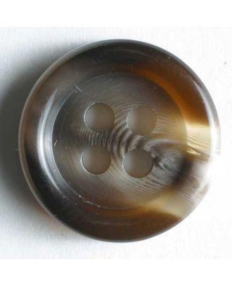 Anzugknopf mit Farbverlauf und vier Löchern - Größe: 9mm - Farbe: braun - Art.Nr. 170411