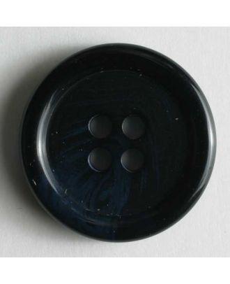 Anzugknopf mit Farbverlauf und vier Löchern - Größe: 9mm - Farbe: blau - Art.Nr. 170443