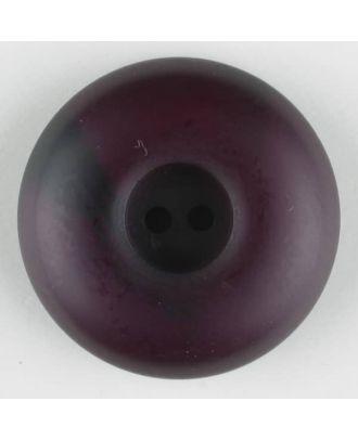 Polyesterknopf mit Wulstrand und dunklem Pinselstrich, rund, 2 loch - Größe: 30mm - Farbe: lila - Art.Nr. 384715