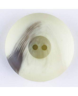 Polyesterknopf mit Wulstrand und dunklem Pinselstrich, rund, 2 loch - Größe: 18mm - Farbe: grün - Art.Nr. 314719